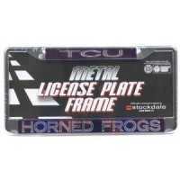 Tcu Metal Inlaid Acrylic License Plate Frame