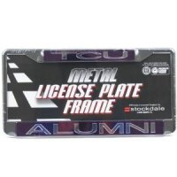 Tcu Metal Alumni Inlaid Acrylic License Plate Frame