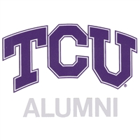 "Tcu 4""x6"" Alumni Transfer Decal - White"
