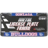 Gonzaga Metal License Plate Frame W/domed Insert - Gonzaga/bulldogs
