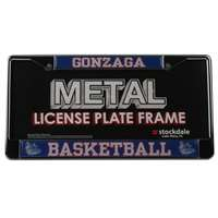 Gonzaga Basketball Metal License Plate Frame W/domed Insert - Zags/basketball