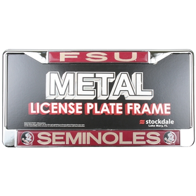 Florida State Seminoles Metal License Plate Frame W/domed Insert
