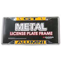 Georgia Tech Yellow Jackets Alumni Metal License Plate Frame W/domed Insert