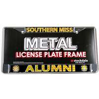 Souther Mississippi Golden Eagles Alumni Metal License Plate Frame W/domed Insert