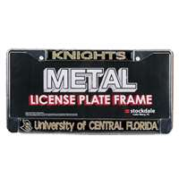 Central Florida Knights Metal License Plate Frame W/domed Insert