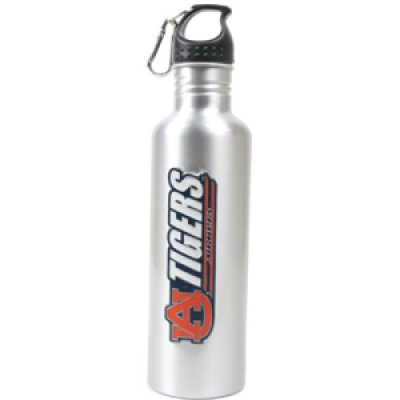 Auburn Tigers Aluminum Water Bottle Wide Mouth Silver