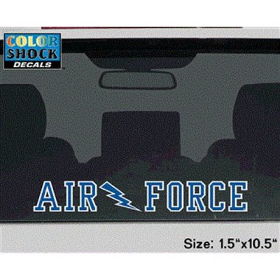 TeamStores.com - Air Force Falcons Decal Strip - Air Force W/ Lightning Bolt