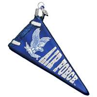 Air Force Falcons Glass Christmas Ornament - Pennant