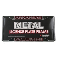 Arkansas Razorbacks Metal Alumni Inlaid Acrylic License Plate Frame