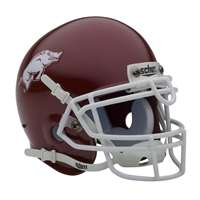Arkansas Razorbacks Mini Helmet by Schutt - Matte Crimson