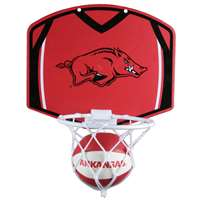 Arkansas Razorbacks Mini Basketball And Hoop Set