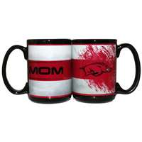 Arkansas Razorbacks 15oz Ceramic Mug - Mom