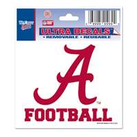 "Alabama Crimson Tide Decal 3"" X 4"" - Football"