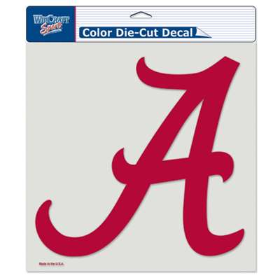"Alabama Crimson Tide Full Color Die Cut Decal - 8"" X 8"""