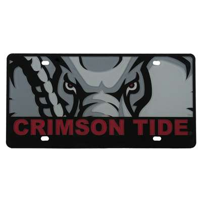 Alabama Crimson Tide Full Color Mega Inlay License Plate