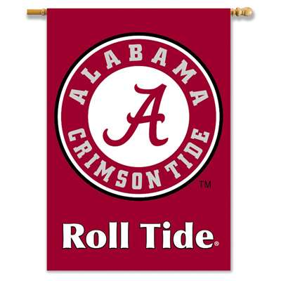 "Alabama Crimson Tide 2-sided Premium 28"" X 40"" Banner - Roll Tide"