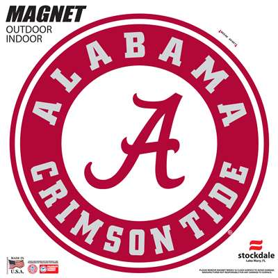Alabama Crimson Tide Large Magnet - Round