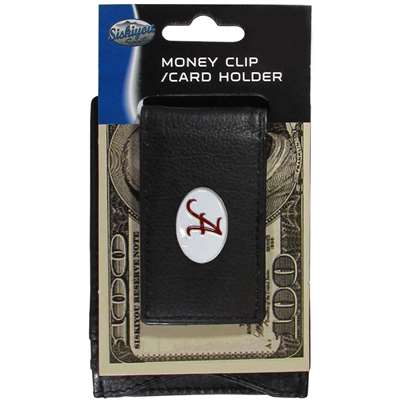 Alabama Crimson Tide Leather Card Holder Money Clip