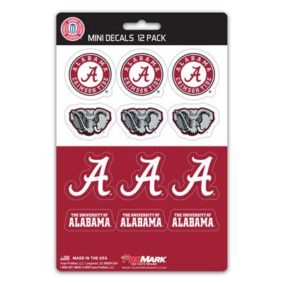 Alabama Crimson Tide Mini Decals - 12 Pack
