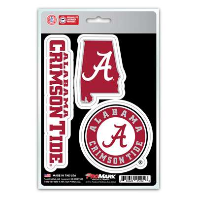 Alabama Crimson Tide Decals - 3 Pack