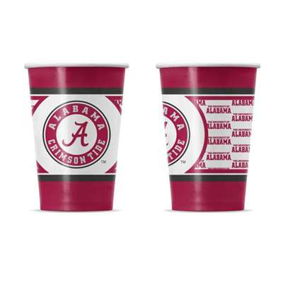 Alabama Crimson Tide Disposable Paper Cups - 20 Pack