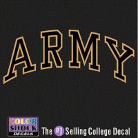 Army Black Knights Decal - Arched Army