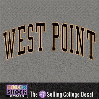 Army Black Knights Decal Arched West Point