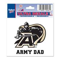 "Army Black Knights Decal 3"" X 4"" - Army Dad"
