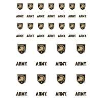 Army Black Knights Small Sticker Sheet - 2 Sheets
