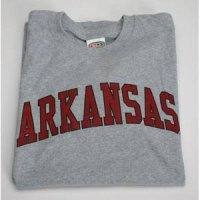Arkansas T-shirt - Heather W/cardinal Print