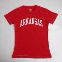 Arkansas Ladies T-shirt - Red