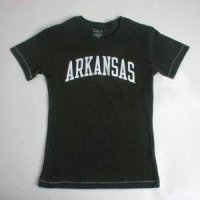 Arkansas Ladies T-shirt - Black