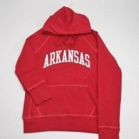 Arkansas Hooded Sweatshirt - Ladies Hoody By League - Red