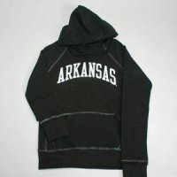 Arkansas Hooded Sweatshirt - Ladies Hoody By League - Black