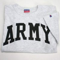 "Arched ""army"" T-shirt By Champion - Ash Gray"