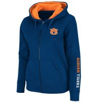 Auburn Tigers Womens Full Zip Titan Fleece Hooded Sweatshirt