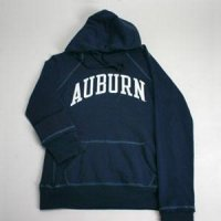 Auburn Hooded Sweatshirt - Ladies Hoody By League - Navy