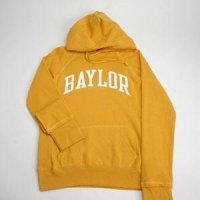 Baylor Hooded Sweatshirt - Ladies Hoody By League - Yellow