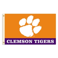 Clemson 2-sided 3' X 5' Flag