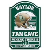 Baylor Bears Fan Cave Wood Sign