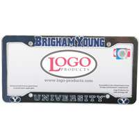 Byu Cougars Chrome Plastic License Plate Frame