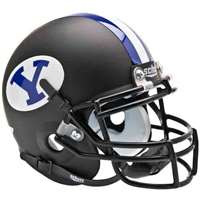 Byu Cougars Mini Helmet by Schutt - Matte Black