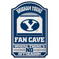 BYU  Cougars Fan Cave Wood Sign