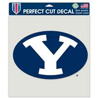 "BYU cougars Full Color Die Cut Decal - 8"" X 8"""