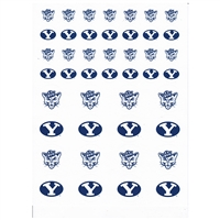 BYU cougars Small Sticker Sheet - 2 Sheets