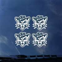 BYU Cougars Transfer Decals - Set of 4