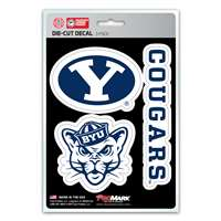 BYU Cougars Decals - 3 Pack