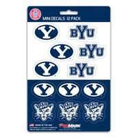 BYU Cougars Mini Decals - 12 Pack