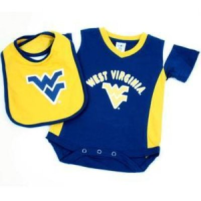 West Virginia Infant One Piece Tee With Bib By Colosseum