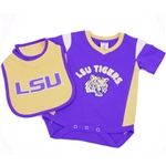 Lsu Infant Onesie With Bib By Colosseum